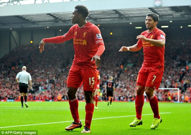Liverpool Teammates Suarez and Sturridge will meet in the England-Uruguay game, From Daily Mail